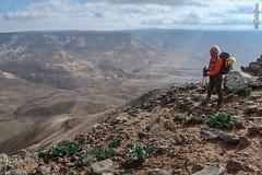 View of Wadi Mujib (Landcruising Adventure) Tags: wadi mujib view emptiness wilderness jordan woman hiker