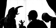 Excerpt X (Desperate John) Tags: imagined excerpt silhouettes horns lizard chains water curtains