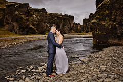 Crystal & Don (LalliSig) Tags: portrait portraiture people iceland summer august wedding photographer brúðkaup brúðkaupsljósmyndari ljósmyndari portrett fjarðárgljúfur canyon river