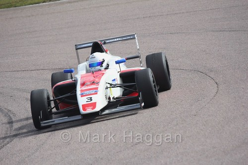 Johnathan Hoggard in British F4 pre-season testing 2018