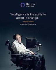 Stephen Hawking Tribute (Maxtron.io) Tags: instagram stephen hawking stephenhawking tribute legend starlord maxtronsocial intelligent