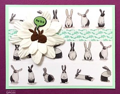 EO-grey bunnies-bergold (Eyelet Outlet) Tags: eyeletoutlet laurenbergold easter eastercards cards cardmaking bunnytape rabbitbrads paperflowers washitape easterbubblebrads