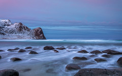 One of those days (Mika Laitinen) Tags: canon5dmarkiv europe lofoten norway norwegiansea scandinavia unstand beach cloud colorful dawn daybreak longexposure mountain nature ocean outdoors pink rock sea seascape shore sky snow sunrise water wave winter nordland no