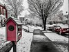 """Time is a game played beautifully by children."" ―Heraclitus ❄️ ☃️ ❄️ (anokarina) Tags: colorsplash psmobile adobephotoshopexpress ☂️ ☔️ ⛄️ ☃️ ❄️ ☁️ appleiphone7 highlands louisville kentucky ky winter freezing rain storm spring snow city urban sidewalk street trees red burgundy miniaturepubliclibrary giveabooktakeabook cars vehicles automobiles"