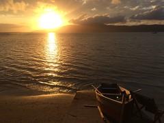 World Water Day 2018 . . . (ericrstoner) Tags: sunset shore seashore boat barco cantogrande bombinhas santacatarina pôrdosol rachelcarson rowboat barcoaremo poetofthesea worldwaterday diamundialdaágua mar shoreline água