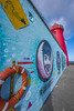 DSC_8673_Lighthouse_WideWall (RobNDub) Tags: ultrawideangle wideangle graffiti dublin pool beg lighthouse sea rock sunset mountain bike poolbeg