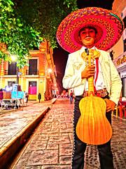 El Mariachi (Isaac Palacio) Tags: street photography 2018 mexico people mg night mariachi hat colours flickr happy miligramo fractal digital merida yucatan latinamerica for latinamericans