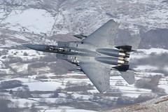 Topside (Treflyn) Tags: usafe mcdonnell douglas f15e strike eagle af 91605 ln cad pass bwlch mach loop north wales topside snow usaf f15