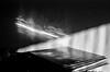 light waves on sound waves (Teet Liiv) Tags: analogphotography blackandwhite 35mm film home sun reflection vinyl records sleeve wall 2018 ilford canon vintage camera