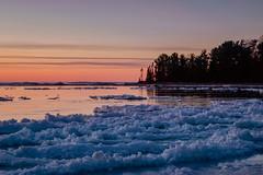 Ice Cold at Dusk (T P Mann Photography) Tags: lake michigan evening sunset sundown