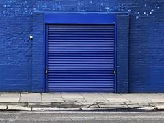 blue (Hayashina) Tags: blue door shutter wall london