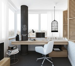 Рабочий кабинет на балконе (Архитектурный Журнал) Tags: балконе кабинет на рабочий