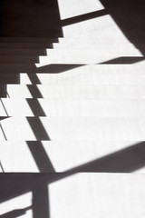 'Stair Down' (Canadapt) Tags: stairs shadow pattern shape geometry abstract portugal canadapt figueiródosvinhos museum
