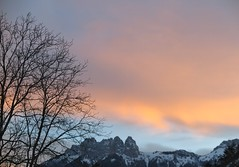 This morning, after my coffee (nathaliedunaigre) Tags: vue view frommywindow demafenêtre sky aube sunrise colors couleurs ciel montagnes mountains lesdentsdelanfon hautesavoie france arbres trees