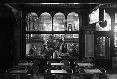 Le Cirio, Brussels, Belgium (Plan R) Tags: blackandwhite restaurant cafe brussels evening night leica m 240 noctilux 50mm