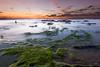 Palmachim Beach at Sunset VI (stollman_ron) Tags: seascape travel nikon d600 sea sky clouds longexposure israel rocks