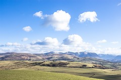 Fells and clouds (allybeag) Tags: setmurthy woods forest trees fells snow clouds sky bluesky grassmoor whiteside