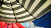 Umbrella Abstract (lorinleecary) Tags: abstract california losalamos blue color curves lines red stripes umbrellas