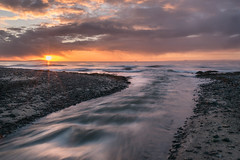 Leven Sunrise (Steve Howell Photography) Tags: beach beautiful calm clouds cold colourful early leven morning motion outdoors peaceful relaxing sea seaside sky sun sunrise