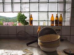 Hotel F. 43 (Moddersonne) Tags: lost place urbex verlassen abandoned decay verfall urban exploration hotel fürstlich fürstliches fenster flaschen küche schalen