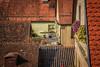 Hideaway (rlb1957) Tags: rothenburgobdertauber deutschland germany tile roofs patio garden architecture houses bayern bavaria altstadt