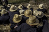 Amish Hats (crabsandbeer (Kevin Moore)) Tags: winter amish animals auction children farm hats horses kids livestock mennonite mud mudsale people rural spring pattern repetition repeat circle strawhat dof abstract street candid stilllife