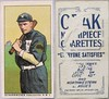 """1910 T212-2 Obak Cigarettes Baseball Card (""""Everyone Satisfies"""" #10 / 175 Subjects) - HARRY """"SCHARNEY"""" SCHARNWEBER (Shortstop) (Vancouver Beavers / Northwestern League) (#248) (Treasures from the Past) Tags: t212 tobaccocard tobacco 1909 1910 1911 cigarette cigarettecard americantobaccocompany t212obak obak baseballcard vintage californiabranch obakmouthpiececigarettesbrand mouthpiececigarettes nwl northwestleague northwesternleague pcl pacificcoastleague henryscharnweber heiniescharnweber harryscharnweber scharney henrygeorgescharnweber vancouverbeavers shortstop manager"""