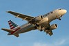 N711UW American A319-112 at KCLE (GeorgeM757) Tags: n711uw american a319112 aircraft alltypesoftransport aviation airbus kcle georgem757 takeoff sunset canon70d usairways