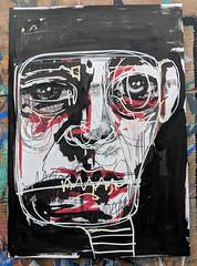 Wonky John (id-iom) Tags: idiom graffiti vandalism street urban art face man wonky lopsided john supreme accuracy sixth sense