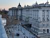 Royal Palace at Dusk (David J. Greer) Tags: madrid spain royal palace dusk plaza terrace streetlights columns