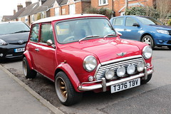 1999 Rover Mini Cooper T376 TBV (davidseall) Tags: rover mini cooper 1999 classic old shape style original red t376 tbv t376tbv small