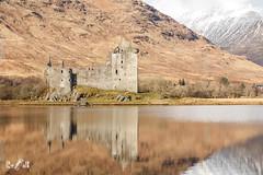 Reflections of Kilchurn Castle (Scotland) (Renate van den Boom) Tags: 02febuari 2018 architectuur bergen boom europa glencoe grootbrittannië jaar kasteel landschap maand meer natuur renatevandenboom schotland seizoenen sneeuw weer winter