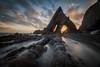 Arrowing in (Richard Davy - The World As I See It) Tags: sunrise clouds rocks sea water rockformation tide sky landscape outdoor northdevon blackchurchrock