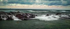 ce matin (joboss83) Tags: mer sea nature sun fujixt1 rocher vague landscape nuage beach méditerranée fuji xt1