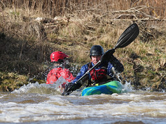 M2248228 E-M1ii 300mm iso400 f5.6 1_1000s ContinuousAF (Mel Stephens) Tags: action sport people transport uk scotland aberdeen 20180324 201803 2018 q1 4x3 wide water river olympus mzuiko mft microfourthirds m43 300mm pro omd em1ii ii mirrorless kayak kayaks kayaker kayakers peer paddle sports persley don