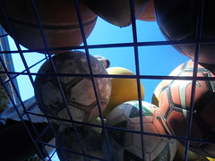 DSC01187 (classroomcamera) Tags: school classroom block blocked obstruct obstruction obstructed ball balls recess play basket baskets cart carts blue wire wires sun sunshine sunlight underneath under