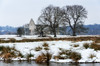 Priory On The Wey (Stephen Reed) Tags: nikon d7000 winter surrey priory newark lightroomcc colorefexpro4 snow river countryside