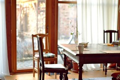 Feels like home (catarinae) Tags: feels like home dining room sun table chair mug big windows court horses guest giesen grosen linden visit friend country countryside simple life