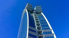 """Estructura"" (atempviatja) Tags: hotelw barcelona forma hotel cielo azul arquitectura estructura"