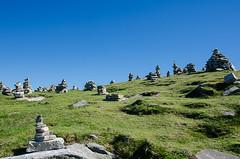Cairn Sanctuary (Joseph Trojani) Tags: montagne mountain pyrenees roc sky beautiful ciel blue bleue landscape paysage nikon d7000 cairn sanctuaire sanctuary rhune paysbasque