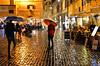 rainy night in rome (poludziber1) Tags: street streetphotography skyline sky city colorful cityscape color colorfull capital people rain urban umbrella italia italy light night orange