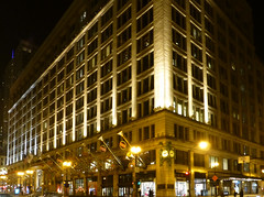 Chicago, IL Marshall Field's (now Macy's) (army.arch) Tags: chicago illinois il macys marshallfields fields departmentstore statestreet historic historicpreservation nrhp nationalregisterofhistoricplaces nationalregister nhl nationalhistoriclandmark night city photography