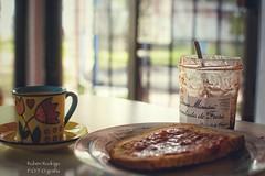Saturday breakfast (Mister Blur) Tags: espresso macchiato coffee toast homemade bread strawberries jam bonne maman saturday breakfast dof shallow depthoffield bokeh forlife blur home james theband snapseed nikon d7100 35mm rubén rodrigo fotografía