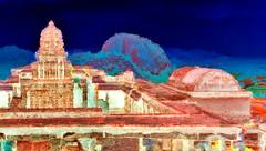 India - Tamil Nadu - Gingee Forts - Krishnagiri Fort - Sri Ranganatha Temple & Rajagiri Hill - 5bb (asienman) Tags: india tamilnadu gingeeforts krishnagirifort sriranganathatemple rajagirihill asienmanphotography asienmanphotoart asienmanpaintography