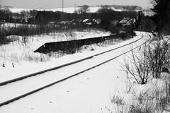 Abandoned Railway Station (steve_whitmarsh) Tags: kintore aberdeenshire snow ice winter tracks train abandoned
