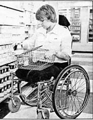 shirley shopping (jackcast2015) Tags: amputee legamputee wheelchairwoman wheelchair disabledwoman crippledwoman amputeewoman nolegs doubleabovekneeamputee dakamputee