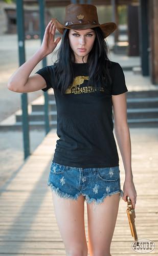5cb262098d6 Pretty Cowgirl Model Goddess with Cowboy Hat