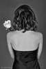 Two beauties (piotr_szymanek) Tags: sylwia sylwiag portrait studio blackandwhite hair back rose flower woman young milf skinny blackdress 1k 20f 5k 50f 10k 20k