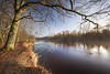 Calm morning (xkolba) Tags: march bug river tree sunrise outdoor landscape podlasie canoneos5dmkii riverbank nature reflection longexposure mirror reflections hoyand500 wood poland