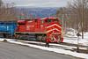 Working the North Bennington Interchange (HDR's Photos) Tags: railfanning freighttrain vermontrailsystem greenmountainrailroad trains emdsd70m2 emdsd60 northbenningtonvt winter snow landscape railroadtracks
